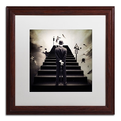 Trademark Erik Brede Waiting for the Green Light Art, White Matte W/Wood Frame, 16 x 16