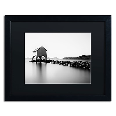 Trademark Erik Brede A Quiet Day at Hafrsfjord Art, Black Matte W/Black Frame, 16 x 20