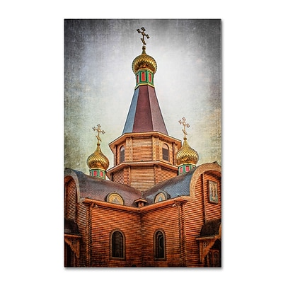 Trademark Erik Brede Iglesia Orthodoxa Rusa del Arcangel Gallery-Wrapped Canvas Art, 12 x 19