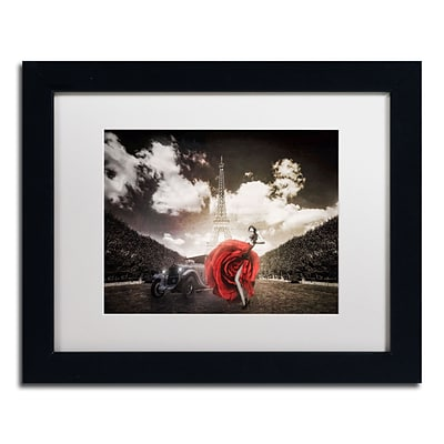 Trademark Erik Brede Tango in Paris Art, White Matte W/Black Frame, 11 x 14