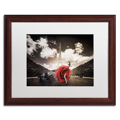 Trademark Erik Brede Tango in Paris Art, White Matte W/Wood Frame, 16 x 20