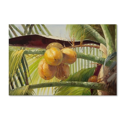 Trademark Victor Giton Coconut Palm I Gallery-Wrapped Canvas Art, 22 x 32