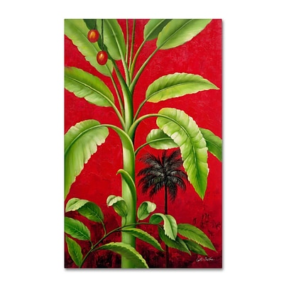 Trademark Victor Giton Tropical Palm II Gallery-Wrapped Canvas Art, 22 x 32