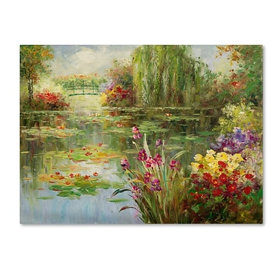 Trademark Victor Giton Water Lilies Gallery-Wrapped Canvas Art, 24 x 32