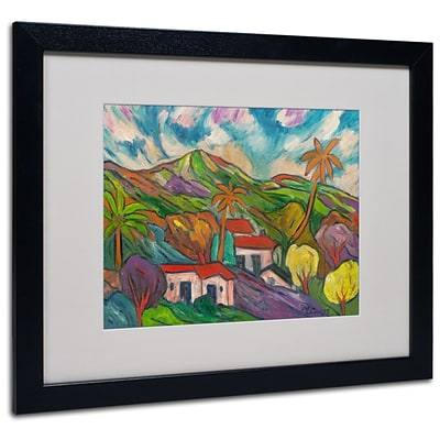 Trademark Manor Shadian Tropical Valley with... Art, White Matte W/Black Frame, 16 x 20