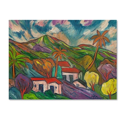 Trademark Manor Shadian Tropical Valley with Thr... Gallery-Wrapped Canvas Art, 18 x 24