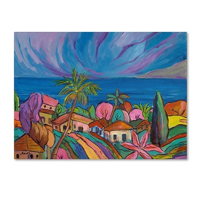 Trademark Manor Shadian Houses Under a Purple Sky Gallery-Wrapped Canvas Art, 14 x 19