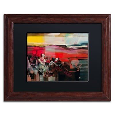 Trademark Andrea Amhaus II Art, Black Matte With Wood Frame, 11 x 14