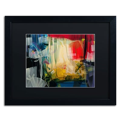 Trademark Andrea Amhaus Art, Black Matte With Black Frame, 16 x 20