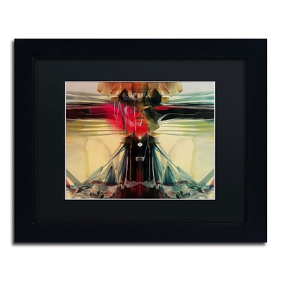 Trademark Andrea Horizon Art, Black Matte With Black Frame, 11 x 14