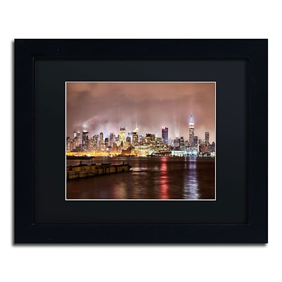Trademark David Ayash Midtown Manhattan Art, Black Matte With Black Frame, 11 x 14