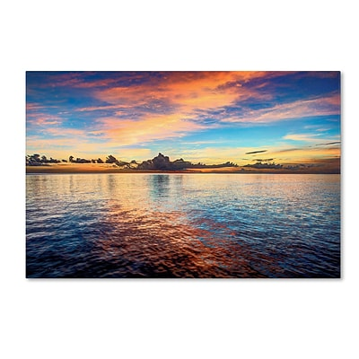 Trademark David Ayash Caribbean Sunset Gallery-Wrapped Canvas Art, 22 x 32