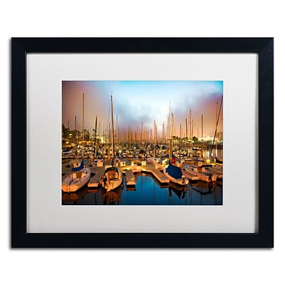 Trademark David Ayash Marina ...Southern California Art, White Matte With Black Frame, 16 x 20