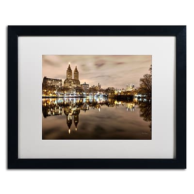 Trademark David Ayash Central Park West I Art, White Matte With Black Frame, 16 x 20