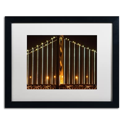 Trademark David Ayash Bay Bridge - San Francisco Art, White Matte With Black Frame, 16 x 20