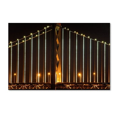 Trademark David Ayash Bay Bridge - San Francisco Gallery-Wrapped Canvas Art, 30 x 47