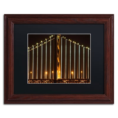 Trademark David Ayash Bay Bridge - San Francisco Art, Black Matte With Wood Frame, 11 x 14