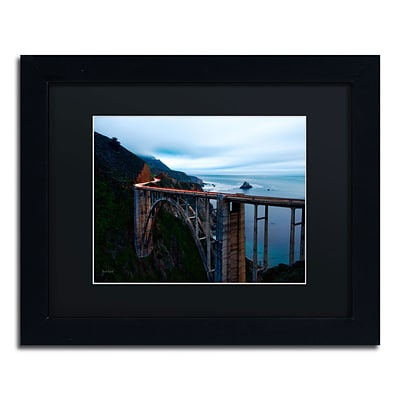 Trademark David Ayash Big Sur...California-II Art, Black Matte With Black Frame, 11 x 14