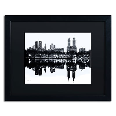 Trademark David Ayash Central Park West II Art, Black Matte With Black Frame, 16 x 20