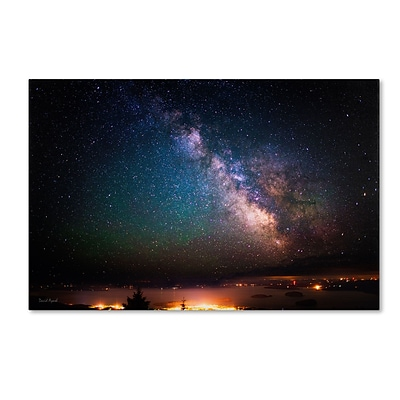 Trademark David Ayash Milky Way Over Acadia National Park.. Gallery-Wrapped Canvas Art, 30 x 47