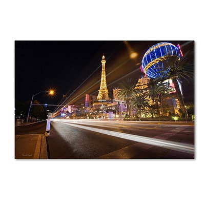 Trademark David Ayash Las Vegas Blvd. Gallery-Wrapped Canvas Art, 12 x 19