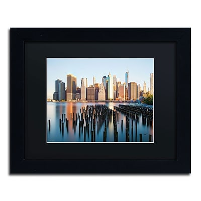 Trademark David Ayash Brooklyn Bridge Park and... - I Art, Black Matte W/Black Frame, 11 x 14