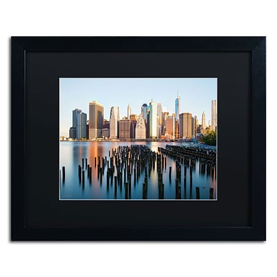 Trademark David Ayash Brooklyn Bridge Park and... - I Art, Black Matte W/Black Frame, 16 x 20