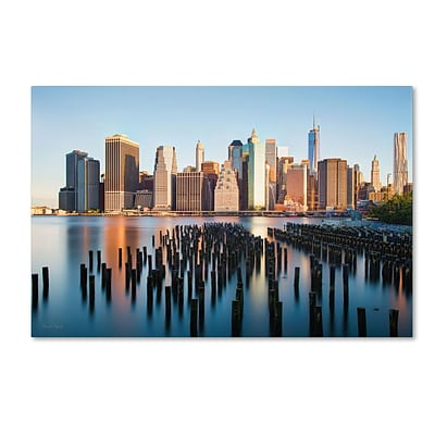 Trademark David Ayash Brooklyn Bridge Park and... - I Gallery-Wrapped Canvas Art, 30 x 47