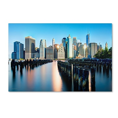 Trademark David Ayash Brooklyn Bridge Park and... - II Gallery-Wrapped Canvas Art, 16 x 24
