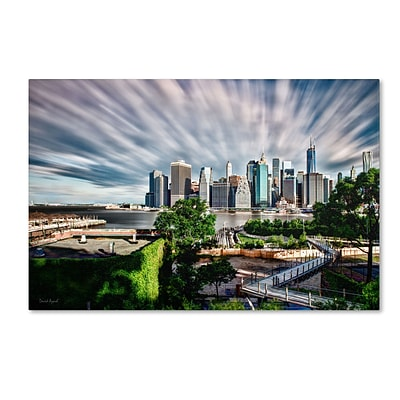 Trademark David Ayash Brooklyn Bridge Park and... - III Gallery-Wrapped Canvas Art, 16 x 24