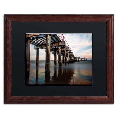 Trademark David Ayash Coney Island - Brooklyn, NY I Art, Black Matte With Wood Frame, 16 x 20