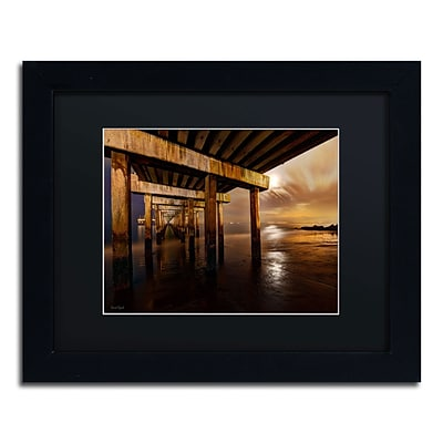 Trademark David Ayash Coney Island - Brooklyn, NY II Art, Black Matte With Black Frame, 11 x 14