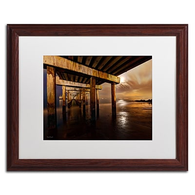 Trademark David Ayash Coney Island - Brooklyn, NY II Art, White Matte With Wood Frame, 16 x 20