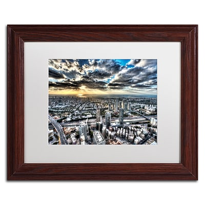 Trademark David Ayash Tel Aviv - Israel-I Art, White Matte With Wood Frame, 11 x 14