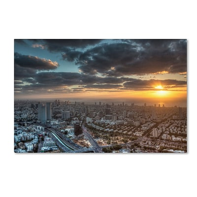 Trademark David Ayash Tel Aviv - Israel-II Gallery-Wrapped Canvas Art, 16 x 24
