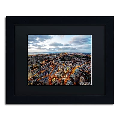 Trademark David Ayash Tel Aviv - Israel-III Art, Black Matte With Black Frame, 11 x 14