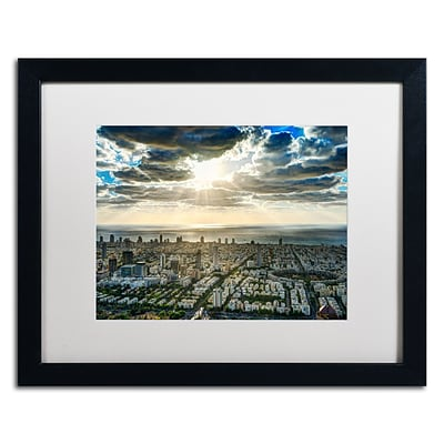 Trademark David Ayash Tel Aviv - Israel-IV Art, White Matte With Black Frame, 16 x 20