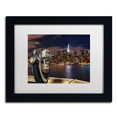 Trademark David Ayash Midtown Over the East River-III Art, White Matte With Black Frame, 11 x 14