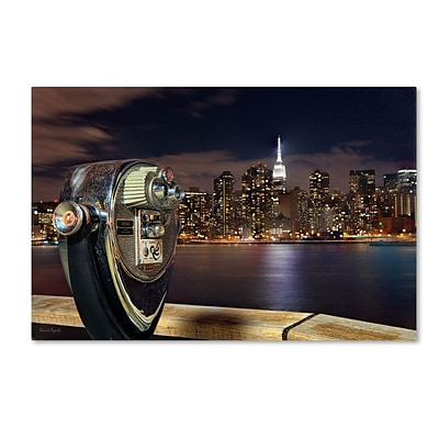 Trademark David Ayash Midtown Over the East River-III Gallery-Wrapped Canvas Art, 22 x 32
