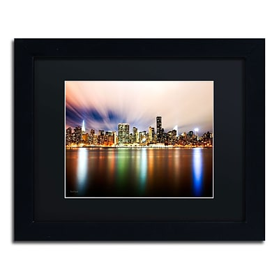 Trademark David Ayash Midtown Over the East River-IV Art, Black Matte With Black Frame, 11 x 14
