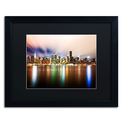 Trademark David Ayash Midtown Over the East River-IV Art, Black Matte With Black Frame, 16 x 20