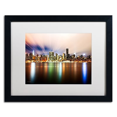 Trademark David Ayash Midtown Over the East River-IV Art, White Matte With Black Frame, 16 x 20