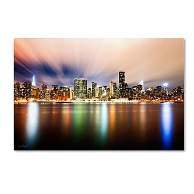 Trademark David Ayash Midtown Over the East River-IV Gallery-Wrapped Canvas Art, 22 x 32