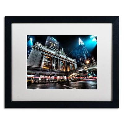 Trademark David Ayash Grand ...42nd. Street - Manhattan Art, White Matte W/Black Frame, 16 x 20