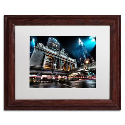 Trademark David Ayash Grand ...42nd. Street - Manhattan Art, White Matte W/Wood Frame, 11 x 14