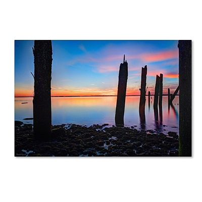 Trademark David Ayash Jamaica Bay Sunset - NYC I Gallery-Wrapped Canvas Art, 16 x 24