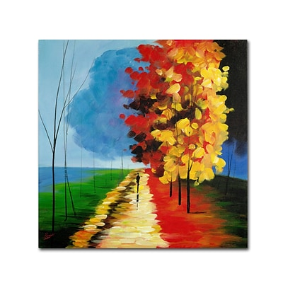 Trademark Ricardo Tapia Walk in the Park Gallery-Wrapped Canvas Art, 24 x 24