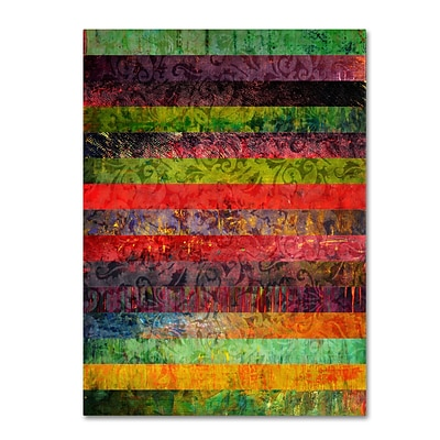 Trademark Michelle Calkins Brocade and Fifteen Stripes 1 Gallery-Wrapped Canvas Art, 24 x 32