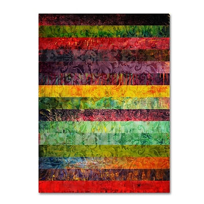 Trademark Michelle Calkins Brocade and Fifteen Stripes 2 Gallery-Wrapped Canvas Art, 18 x 24