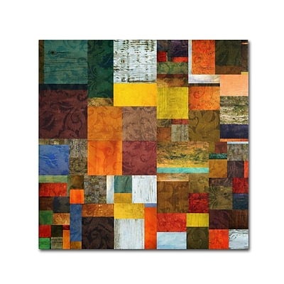 Trademark Michelle Calkins Brocade Color Collage 1 Gallery-Wrapped Canvas Art, 24 x 24